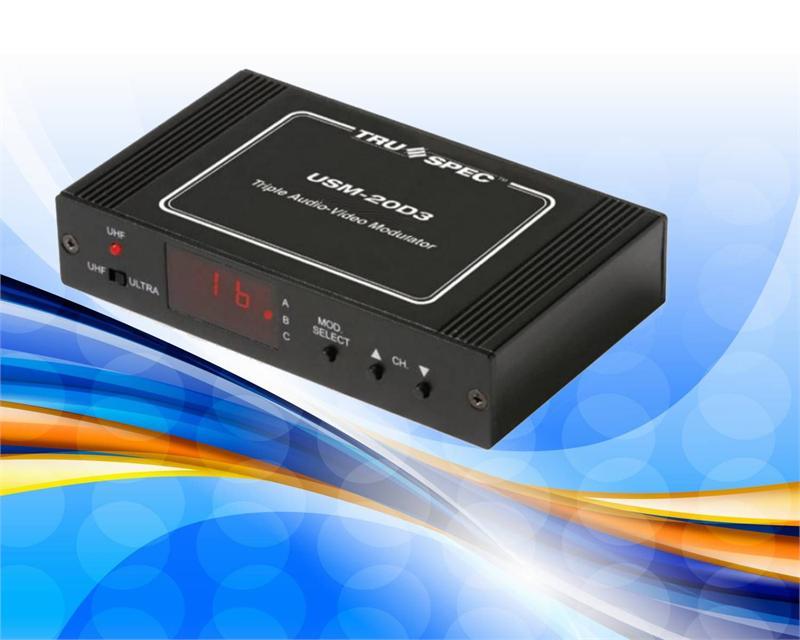 USM 20D3 Pico Macom 3 Channel Audio Video RF Modulator